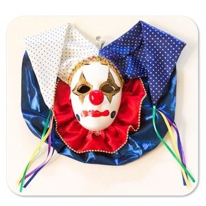 Other - Vintage Clown Jester Mask